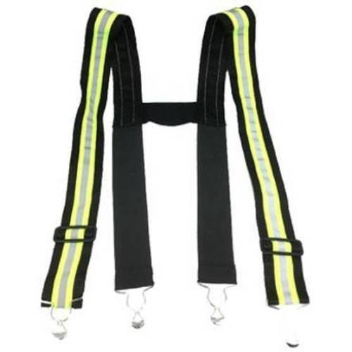 Triple Reflective Stripe Suspenders for Bunker Pants