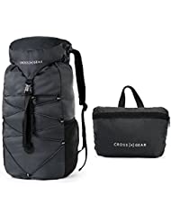 CrossGear Packable Lightweight Water Resistant Travel Backpack/Foldable & Packable Hiking Daypack CR-0905
