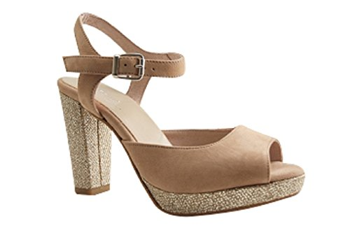Reqins - Zapatos de vestir para mujer Beige