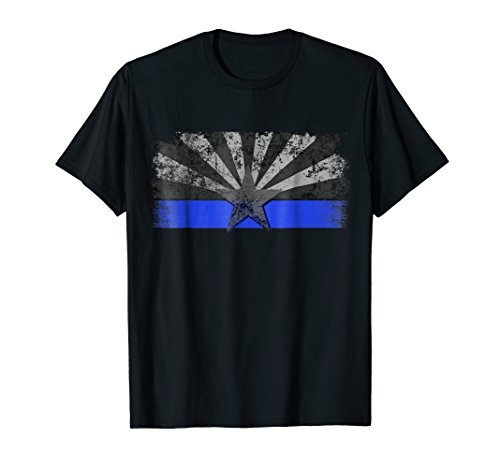 Arizona Thin Blue Line T-Shirt (Highway Patrol Police Patch)