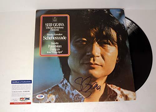 (Seiji Ozawa Composer Signed Autograph Chicago Symphony Vinyl Record PSA/DNA)