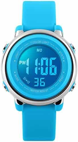 Kids Watch Sport Multi Function 50M Waterproof LED Alarm Stopwatch Digital Child Wristwatch for Boy Girl Blue