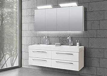 Spiegelschrank 160 Cm.Amazon De Intarbad Doppelwaschtisch 160 Cm Badmöbel Set Mit
