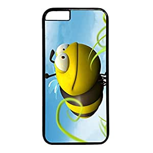 iCustomonline iPhone 6 Funny BeeCustom Personalized Plastic Hard Black Back Case Cover for iPhone 6 (for 4.7 inch)