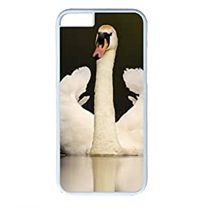 iCustomonline Adult Mute Swan In Threat Posture Designs Case for iPhone 6 (4.7 inch) PC Material White