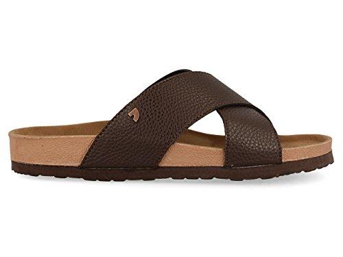 Gioseppo Men's 44509 Open Toe Sandals, Brown Brown (Brown Marron)
