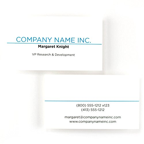 Buttonsmith Custom Premium Printed Business Cards - 3.5