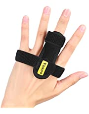 Finger Splint, Adjustable Finger Brace with Metal Plate, Finger Support for Pain Relief fof Finger Fractures, Finger Stiffness, Joint Sprains and Lesions