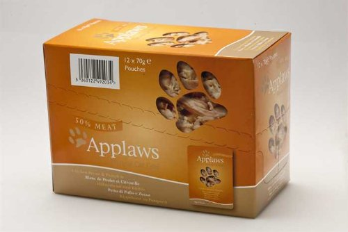 Applaws Cat Pouch Multi Pack Fish Selection 6 x 70g (Bulk deal of 8) 3360g