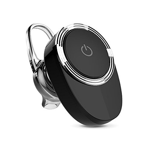 Mini Elegant Wireless Stereo Bluetooth Headphone Super Bass In Ear Headset Sport Music Earbud Earpiece for iPhone SE 5 5s 6 6s 7 Plus Samsung S3 S4 S5 S6 S7 Note 2 3 4 5 Blackberry Etc (Black)