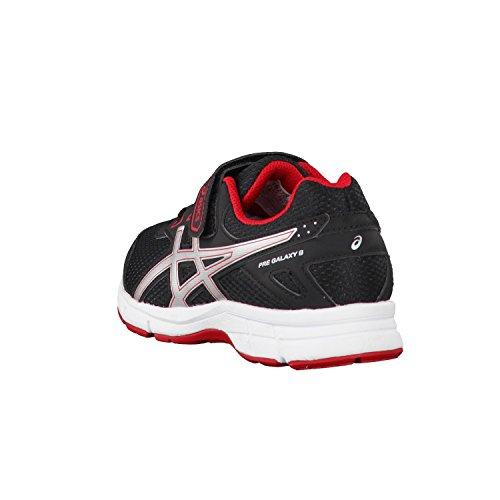 Asics Pre Galaxy 9 Ps, Zapatillas de Entrenamiento Unisex Niños negro/rojo