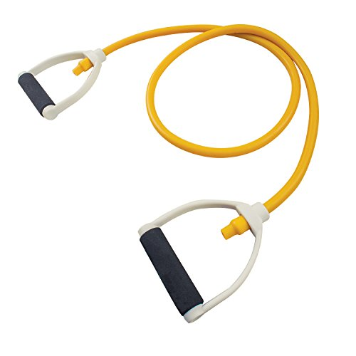 Champion Sports Exercise Resistance Tubing, Yellow - 70 Lbs Resistance