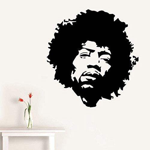 Jimi Hendrix Face - Wall Decal Art Sticker lounge living room bedroom