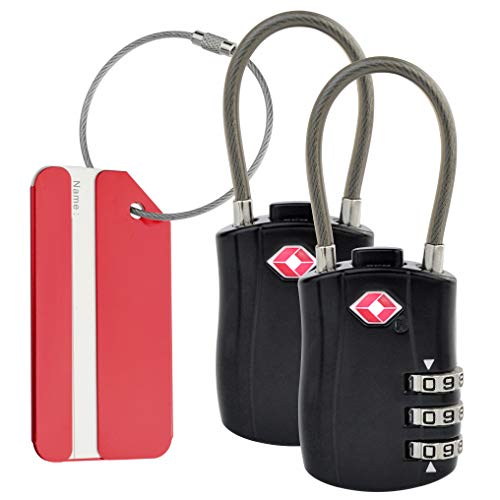 These TSA Luggage locks Work great at the gym too!