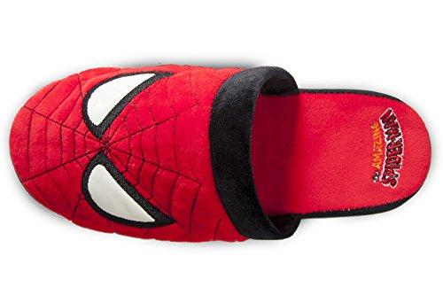 Super-héros Marvel Officiel Les Nouvelles Chaussures En Peluche Amazing Spider-man Glisser À Dos De Mulet - Rouge, L
