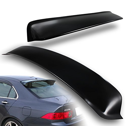 2004-2008 Acura TSX Black ABS Plastic Rear Window Roof Visor Spoiler (Black Rear Roof Spoiler)