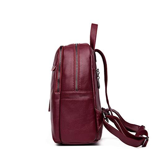 Backpacks School Black Backpack Leather Bags Purple Pu Tassel Women OtAA4Zx