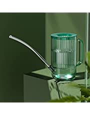 Long Mouth Shower Watering Can, Gardening Watering, Capacity 1 Liter (green, Gray, Brown)(Color:green)