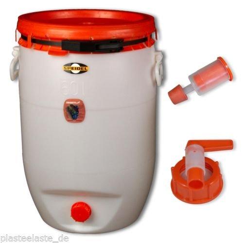 Fermenter SPEIDEL 1 tap Beer keg 60 L round 1 airlock 22133+137+138