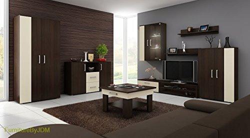 Wohnzimmer Möbel Set, TV Wohnwand STELLA TV Bench, Freistehend Display  Einheit, Display Hängeschrank