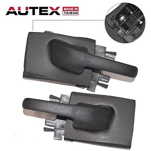 AUTEX 2pcs Interior Door Handles Front/Rear Left Right Compatible with 1995 1996 1997 1998 1999 2000 2001 Ford Explorer Mercury Mountaineer 01 2002 2003 2004 2005 Ford Explorer Sport Trac 77155 77156 (Explorer Ford Door Right)