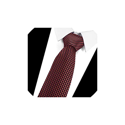 Mens Classic Striped Tie Blue White JACQUARD WOVEN 100/% Silk Ties Necktie #L124