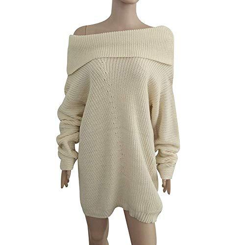 colore M shirt Lavorata Pullover Beige Da Cardigan Sweater Fuweiencore Winter A Donna Maglia Donna Bretelle Felpa Dimensione Con T Senza Sexy Spalline Rosa Camicetta H8BgwqdPx