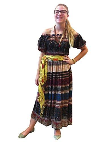 Apricot Braun Damen Interior Kleid Mogul q1XUgw
