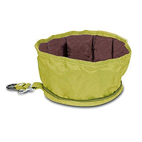 GOGOKING Pet Dog Bowl Folding Dog Bowl Travel Food And Water Bowl Portable Food Bowls For Pets Dogs Bowl(Yellow)