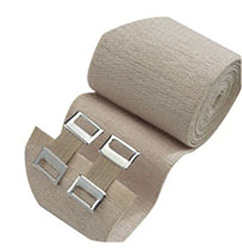 Image of 3M Health Care 207433 ACE Brand Elastic Bandage, Reusable, 4' Width, Tan (Pack of 50) Bandages & Bandaging Supplies