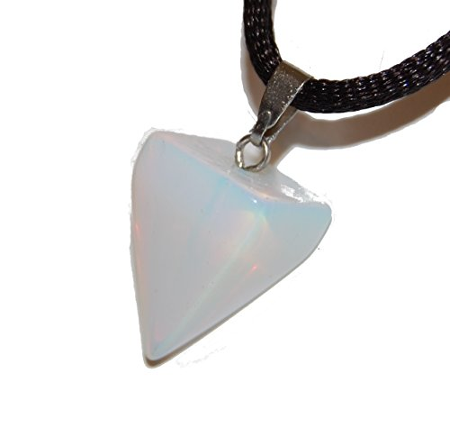 Steamy Sale! Iridescent Opalite Triangle Pyramid Point Pendant : 0.70