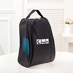 Portable Travel Shoe Bags with Zipper Closure, Convenient For Packing System for Your Shoes, Space Saver Bag, Protect Shoes From Dirt And Smell Of Your Shoes. (Black)
