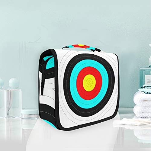 Toiletry Bag Simple Art Circle Score Archery Target Portable Makeup Storage Cosmetic Bag