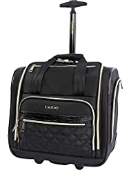 BEBE Womens Leena-Wheeled Under the Seat Carry on Bag, Black