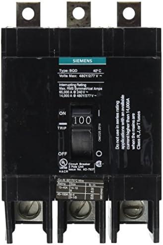 Siemens BQD3100 100-Amp Three Pole 480Y 277V AC 14KAIC Bolt in Breaker, COLOR