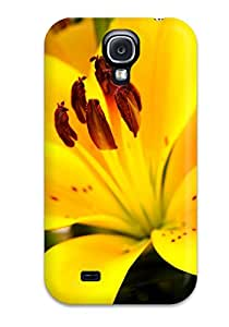Premium QbKjQYi5645gLKLh Case With Scratch-resistant/ Yellow Flowers Case Cover For Galaxy S4