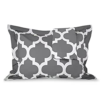 Sleep Restoration Quatrefoil Shams 2-Pack - Luxurious Soft Brushed Microfiber Pillow Covers to Match the Sleep Restoration Quatrefoil Comforter Set -Full/Queen - White