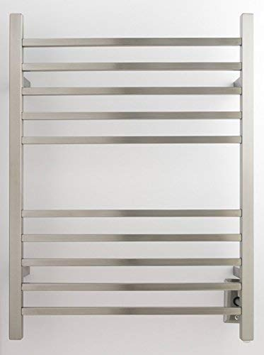 Amba RSWH-B Hardwired Radiant Square Towel Warmer, Brushed Finish