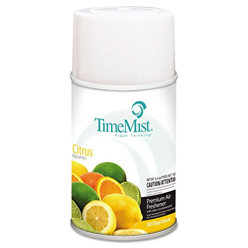 TimeMist 1042781 Metered Fragrance Dispenser Refill, Citrus, 6.6oz, Aerosol (Case of 12) ()