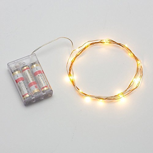 String Lights With Battery: BZONE Led Tiny Micro Battery String Lights Copper Wire