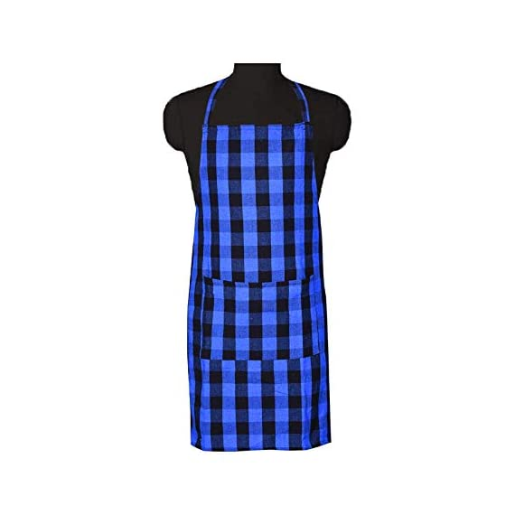 COMFORT WEAVE 100% Cotton Kitchen Apron Free Size - 65 X 80 cms with Front Centre Pocket (Pack of 2 Pieces) 3