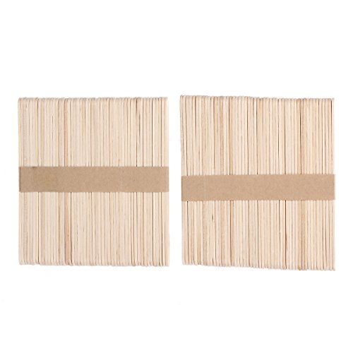 MAKARTT® 100pcs/lot Small Wooden Spatulas Wax Applicator Salon Waxing Body Hair Removal Beauty Health 4.41 * 0.39 inch ((Small Wooden Spatulas)