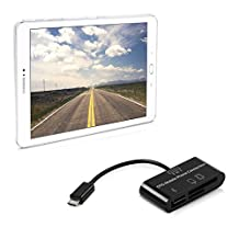 kwmobile 3in1 Micro USB Adapter Card Reader OTG for Samsung Galaxy Tab S2 9.7 black