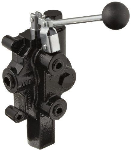 Prince RD-2575-T4-ESA1 Directional Control Valve, Logsplitter, 4 Ways, 3 Positions, Spring Center To Neutral, Cast Iron, 3000 psi, Lever Handle, 20 gpm, In/Out: 3/4