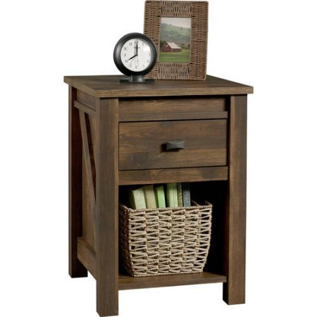 Better Homes and Gardens Falls Creek Side Table/Night Stand, Weathered Dark Pine from Better Homes and Gardens