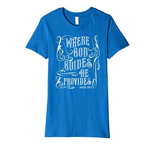 Womens Womans Christian Saying Tee Shirt, Religious Clothing Medium Royal (Christian Sayings)