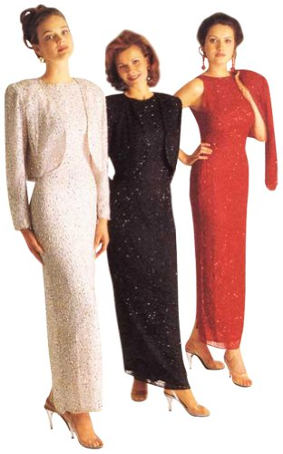 Fully Lined Sequin Gown w/Bolaro Jacket Black, Red, Silver ()