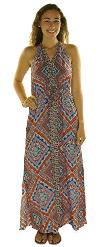 - Red Carter Women's Halter Cover up Maxi Dress Blossom Medium