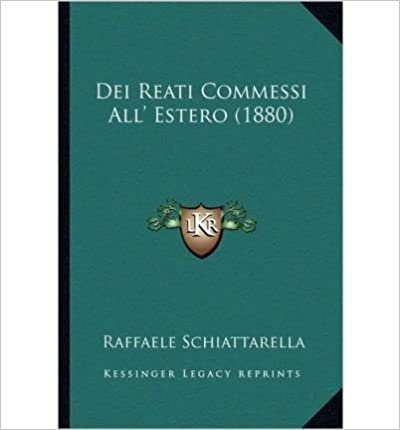 Book Dei Reati Commessi All' Estero (1880) (Paperback)(Italian) - Common