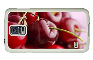 Diy Samsung Galaxy S5 case unique Juicy delicious fruits red cherry macro close up PC White for Samsung S5,Samsung Galaxy S5,Samsung i9600